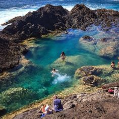 The Mermaid Pools in New Zealand