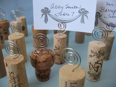 50 Wine Cork Place Card Holders Place Cards by mendydensadesigns, $45.00