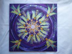 Angel flower  40x40cms on canvas  original £60
