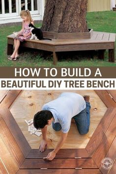 "How To Build A Beautiful DIY Tree Bench - I got to thinking about it more and instead of buying lumber at ridiculous prices, I could use pallet wood and wood from other sources for FREE. So sure enough, I checked craigslist, and boom, I found the ad ""FREE WOOD, COLLECTION ONLY"". So this project could potentially cost a lot less that you think maybe even $0 if you already have the nails and stain. #diy #diytreebench #treebench"