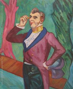 "Pablo Felipe Villegas Mañé ""El actor Henry Samary"" Óleo sobre cartón  Homenaje a Henri Toulouse Lautrec 46 x 38 cm.  http://www.portondesanpedro.com/ver-producto.php?id=12257"