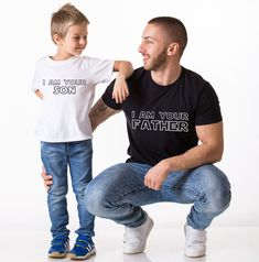 Many of us accept that son is exect copy of his father. What about if they wear same clothes too.Here check these T-shirts of father and son.