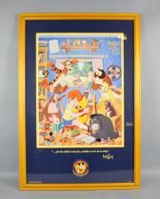 OFFICAL DISNEYANA CONVENTION POSTER - SIGNED ''SAUDERS'' - Measures: Visable Art: 24.5''H x 19''W, Frame: 28''H x 26.5''W - Condition: Age appropriate wear; All items sold as is.