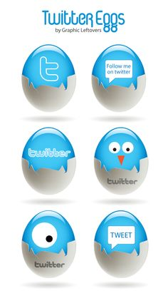 Which came first the Twitter bird or the egg?  Which came first? The Twitter bird or the egg? Download these free Twitter egg icons for your website!