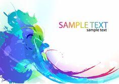 XOO Plate :: Blue Watercolor Paint Splash Abstract Background - Watercolor abstract splash wave vector background - EPS.