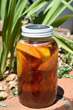 Sun Tea Recipes, Fresh Peach Recipes, Summer Recipes, Drink Recipes, Water Recipes, Refreshing Drinks, Summer Drinks, Fun Drinks, Healthy Drinks