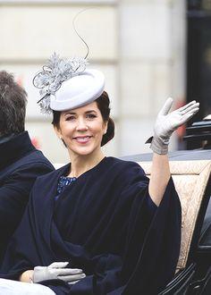 gabriellademonaco: Crown Princess Mary in a Jane Taylor hat (April 2015)