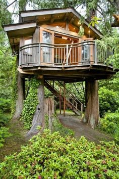 Joy would love to write (and maybe live!) in this tree house.