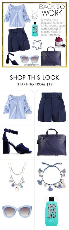 """Back to work"" by abelis ❤ liked on Polyvore featuring WithChic, Sea, New York, Joie, Lodis, Chan Luu, Alice + Olivia, BackToSchool, Work, marine and backtowork"
