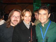 Daniela Michell (directora del festival) y Rafael Aviña en el Festival de Morelia