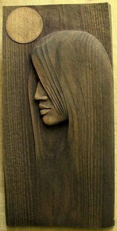 Woman Sculpture - Full Moon by Mieczyslaw Wojtkowski Wood Carving Patterns, Wood Carving Art, Carving Designs, Stone Carving, Art Sculpture En Bois, Woodworking Furniture, Woodworking Projects, Kids Woodworking, Woodworking Workshop