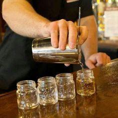 Mini Mason Jar Shot Glasses- Set of 4- Fun Collectible Bar Southern Shooter Gift
