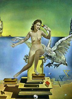 Aniversario de Gala (Elena Ivanovna): Dalí sufría candaulismo, obtenía gratificación erótica exponiendo a Gala o imágenes de ella ante otras personas («Leda atómica», 1949) http://www.veniracuento.com/