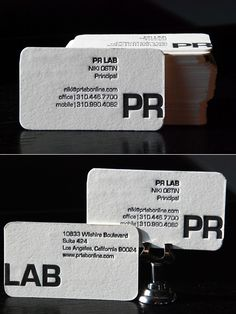 Double-sided Letterpress - business card ideas