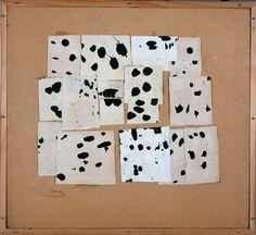 Pierrette Bloch, sans titre 1972, collage, encre de Chine sur papier déchiré, découpé et collé sur Isorel, musée de Grenoble