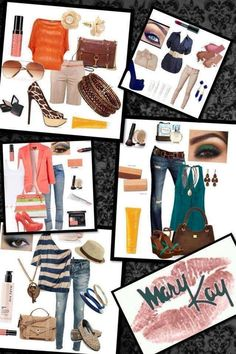 Cute outfits paired with Mary Kay products: Nourishine Plus Lip Gloss Au Natural $14 Sunscreen, your choice: SPF 30 or SPF 50 $14 Red Lipstick $15 Cheek Colors (10 shades to choose from) $10 Botanicals Skincare (dry, normal, or oily) $58 Mineral Powder Foundation and Brush $28 Targeted Action Toning Lotion $28