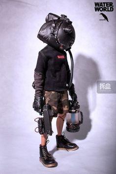 S ekigan: [RuinsWork] Mode Cyberpunk, Cyberpunk Fashion, Character Concept, Character Art, Concept Art, Motion Design, Arte Ninja, Ashley Wood, Custom Action Figures