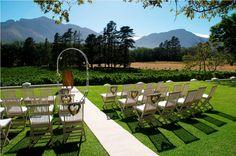 Ceremony setup at Rickety Bridge Winery