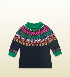 Gucci - baby merino patterned sweater dress