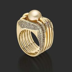 Anillo de Vicky Lew Golden Chrysolampis Mosquitus