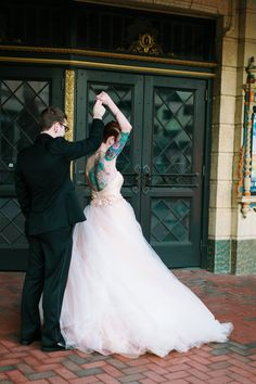 Tattooed Bride Schmidt Wedding Photo By Megan Chase Photography