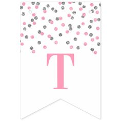Shop Just Married Banner Pink Silver Confetti created by DreamingMindCards. Flag Design, Print Design, Just Married Banner, Congratulations Banner, Create Your Own, Create Yourself, Egg Card, Sign Lighting, Bunting Banner