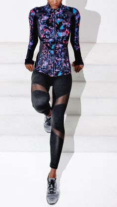 Obsessed with these fashion-forward Zella leggings that feature wraparound mesh.