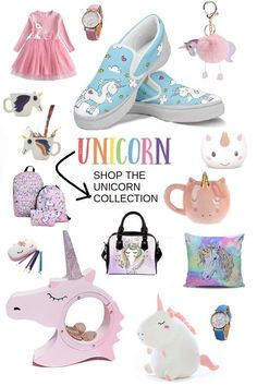 Check out this unicorn collection! #giftsforteens #giftsforgirls #unicornlovers #giftideas #giftsforkids