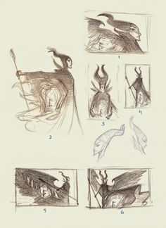 'The Curse of Maleficent: The Tale of a Sleeping Beauty' Illustrations by Nicholas Kole Princesas Disney Zombie, Zombie Disney, Sleeping Beauty Art, Sleeping Beauty Maleficent, Concept Art World, Disney Concept Art, Disney Images, Disney Art, Disney Maleficent