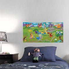 Mona Melisa Designs Knight & Dragon Wall Mural Eye Color: Brown, Hair Color: Blonde, Skin Shade: Medium