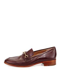 Fredrica Leather Bit Loafer, Dark Purple