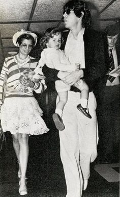Mick, Bianca and little Jade  #RollingStones #MickJagger #BiancaJagger