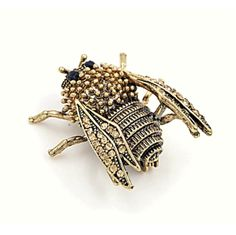 Genevieve Gold Cicada Insect Brooch - Pearl + Creek    #brooch #accessories #insectbrooch #antiquegold #fashionjewelry