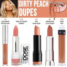 Peach Lips | Best Peach Dupes best makeup products - http://amzn.to/2jpvOwg