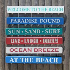 Welcome To The Beach Sign