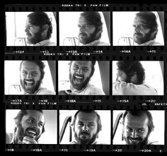 Harry Benson, Jack Nicholson - 9 Jacks, Montana, 1976.