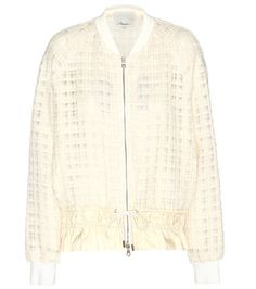White 3.1 PHILLIP LIM  bomber jacket  for woman Cream Bouclé Bomber Jacket By 3.1 Phillip Lim #chaquetabomber #bómber #bombers