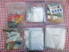 Camping supplies and other organization   tips for camping.. Have a lot of this, but good reminders!