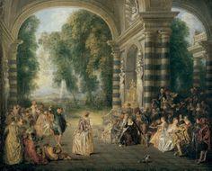 Jean-Antoine Watteau (1684–1721)  Les Plaisirs du bal (Pleasures of the Dance)  c. 1717