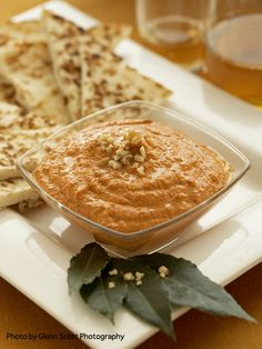 Muhammara (Roasted Red Pepper and Walnut Spread) from The Vegan Table ...
