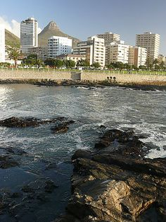 Sea Point In Cape Town, South Africa - such a beautiful promenade, with an awesome swimming pool at the end African Love, Namibia, Cape Town South Africa, The Beautiful Country, Dream City, Beaches In The World, Most Beautiful Cities, Africa Travel, Live