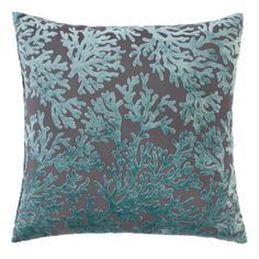 """Corales Pillow 24"""" from Z Gallerie, Turquoise and Gray (also have other colors like Gold or Navy on Gray)"""