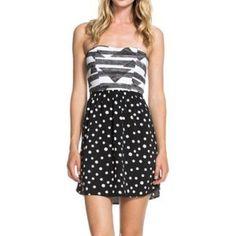 Nwot Roxy Strapless Dress