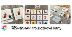 Montessori trojzložkové karty