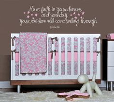 Cinderella Wall Quote Have faith in your by MommyofTyDesigns. $38.99, via Etsy.