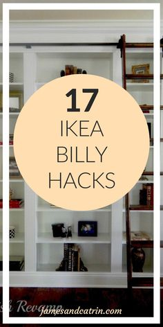 19 Ikea Billy Bookcase Hacks that are Bold and Beautiful – james and catrin – mobels Billy Regal Hack, Billy Ikea Hack, Ikea Billy Bookcase Hack, Trendy Home Decor, Diy Home Decor, Room Decor, Ikea Hacks, Billi Regal, Libreria Billy Ikea