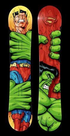 #Board #snowboard #superman VS #Hulk