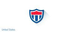 FIFA World Cup: Cool Flat Design Shields  USA