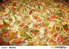 Bramboráková pizza recept - TopRecepty.cz Bariatric Recipes, Hawaiian Pizza, Dumplings, Vegetable Pizza, Guacamole, Macaroni And Cheese, Hamburger, Cabbage, Food Porn