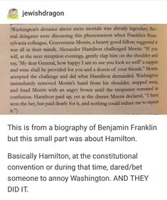 I love Ben Franklin so that's why I clicked this post but Hamilton is the king of dares History Jokes, History Facts, Interesting History, Interesting Facts, Hamilton Lin Manuel Miranda, Hamilton Musical, Alexander Hamilton, Founding Fathers, Tumblr Funny